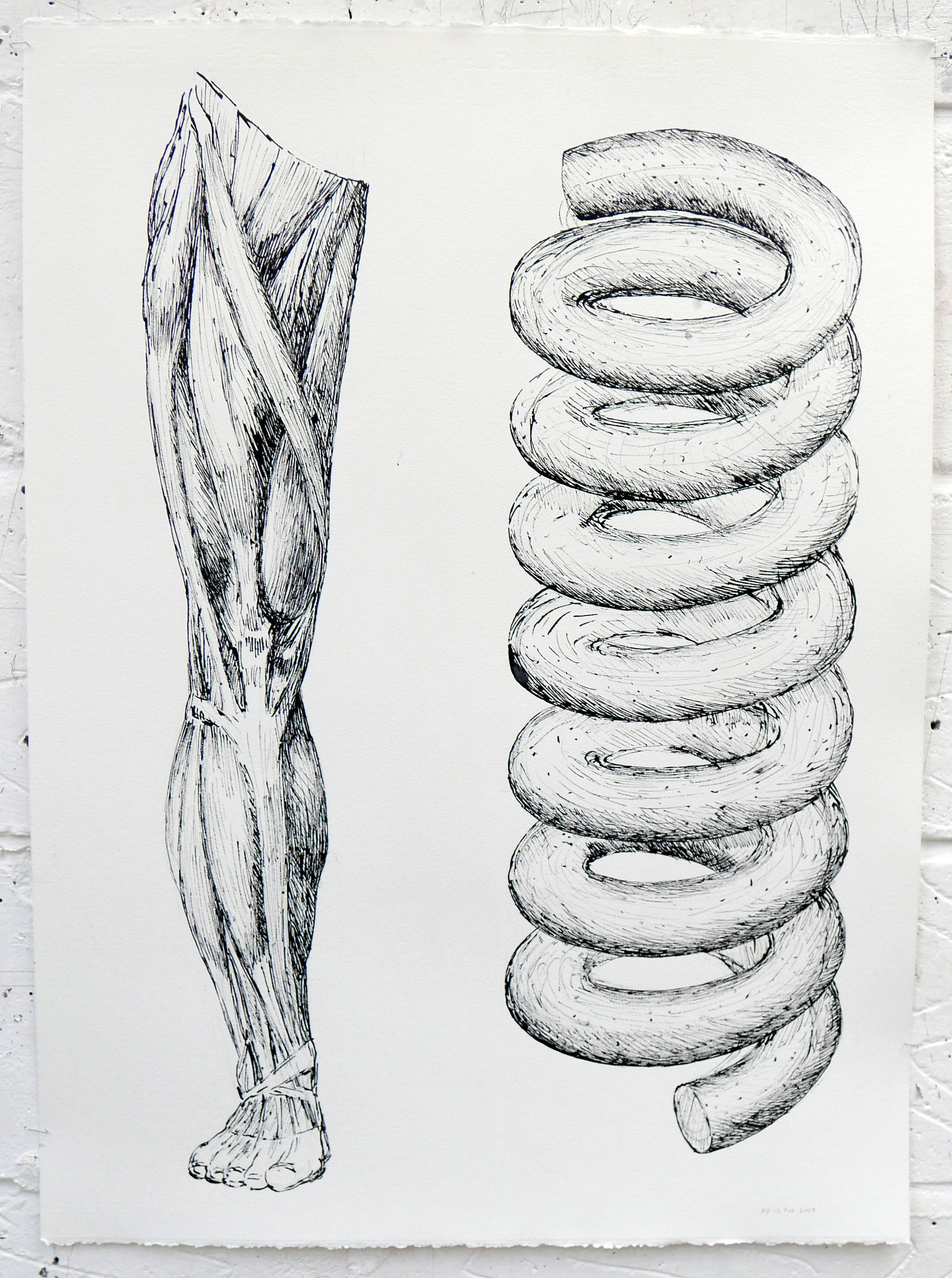 Drawings 2019 Painting 2019 Polythene drawing Plait Spoon 032.JPG