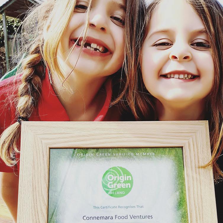 Modelling our Origin Green award certificate...