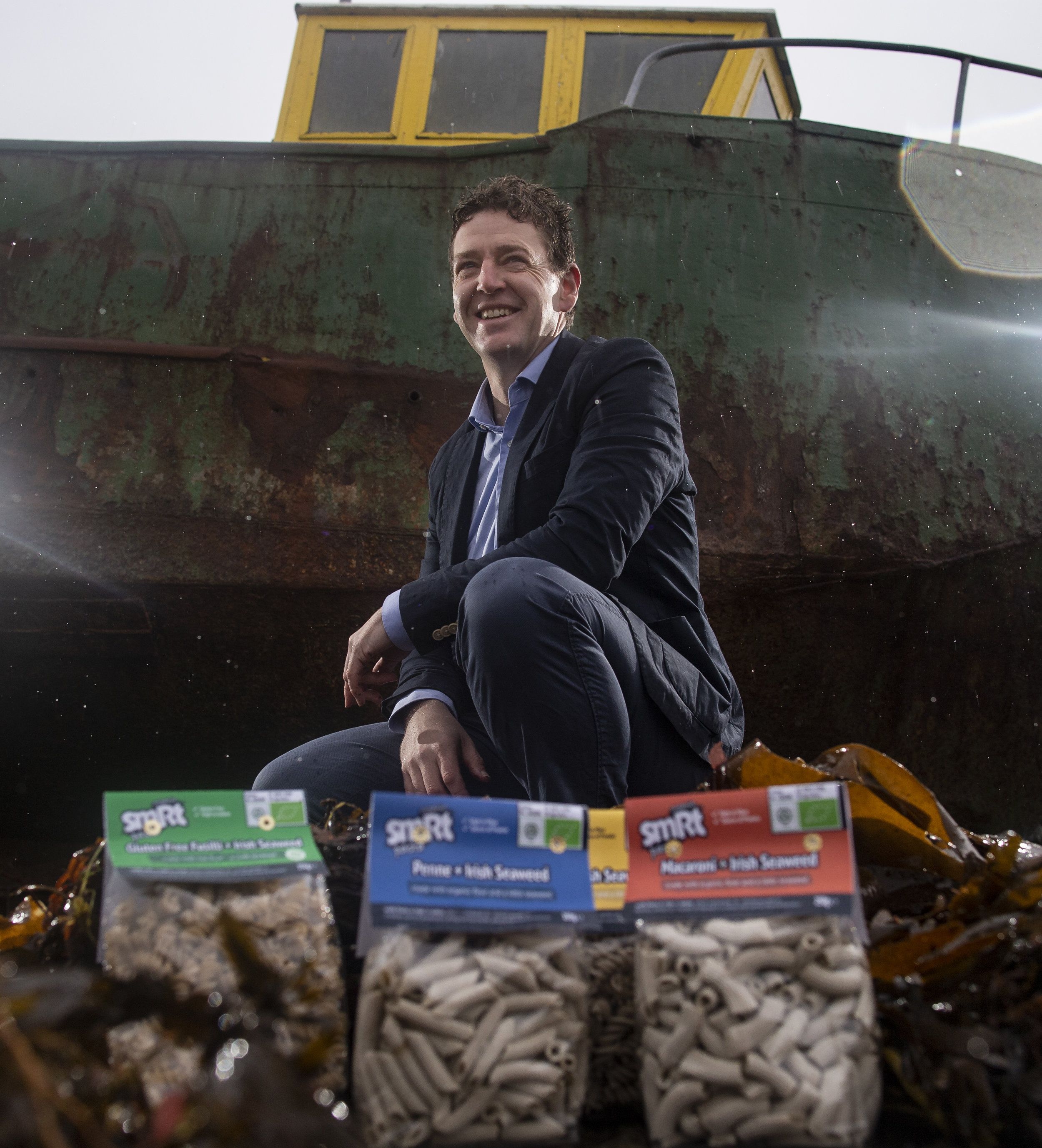 smRt CEO James Cunningham, a boat, some seaweed and smRt pasta…