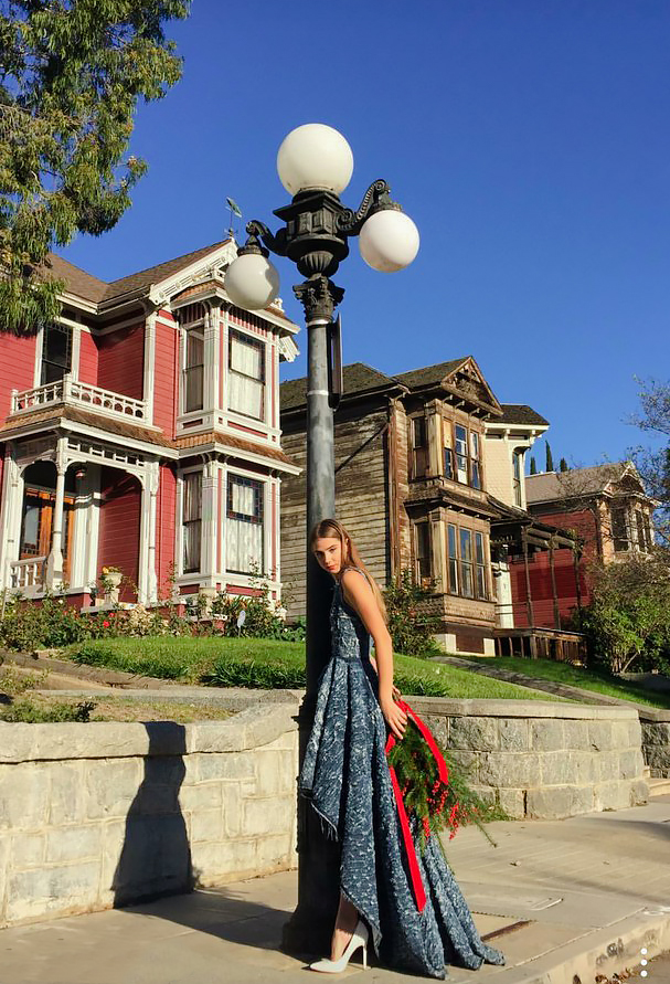 X-mas postcards from Olya Kosterina   DTLA based designer and our friend captured the campaign in front of the Hollywell sisters house