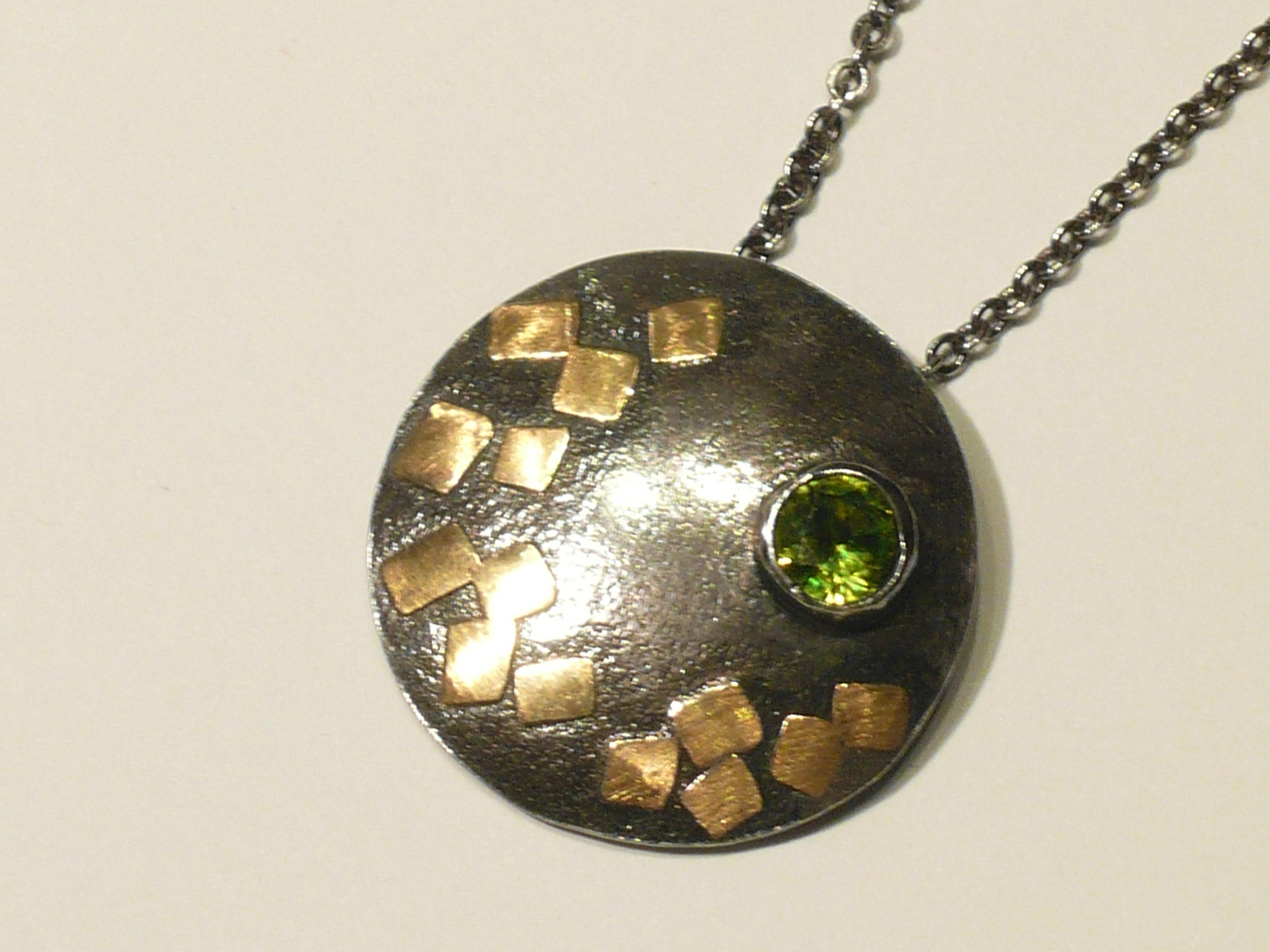 Peridot with 18k Gold Accents