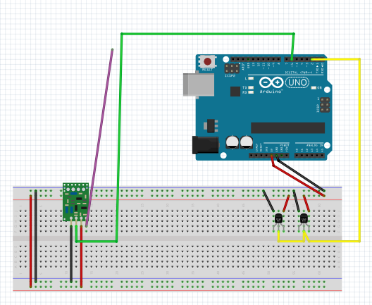 RF Transmitter With 2One Wire Digital Temperature Sensor