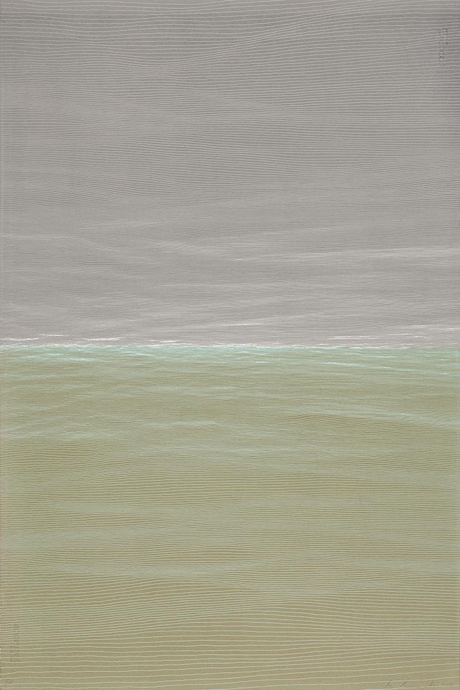 "Ann Aspinwall  Spirit of Place V  Screenprint in four colors  44"" x 30"""