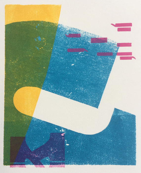 "Peter Bushell ""Accord 1 . 1"" Relief, Letterpress Print"