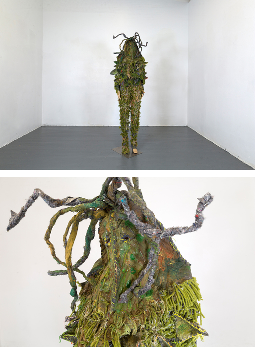 "Seungkyung Oh ""Cactus Suit"" Handmade Costume, Fabric, Thread, Yarn, Acrylic Paint"