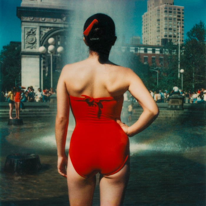 Fran DeRespinis  Lady in Red, Washington Square