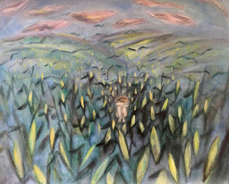 PrincetonSketchbook: In the Corn    ©1984 LSAuth.