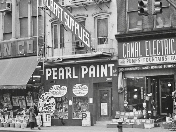 Pearl Paint on Canal in Chinatown around 1985 NYC.