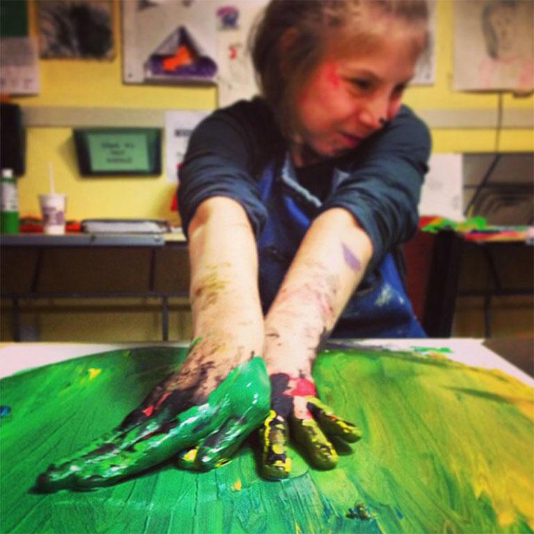 Amanda painting