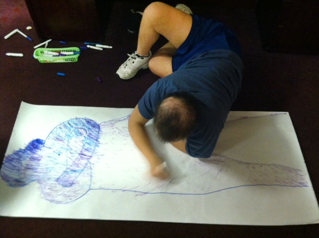 Josh drawing