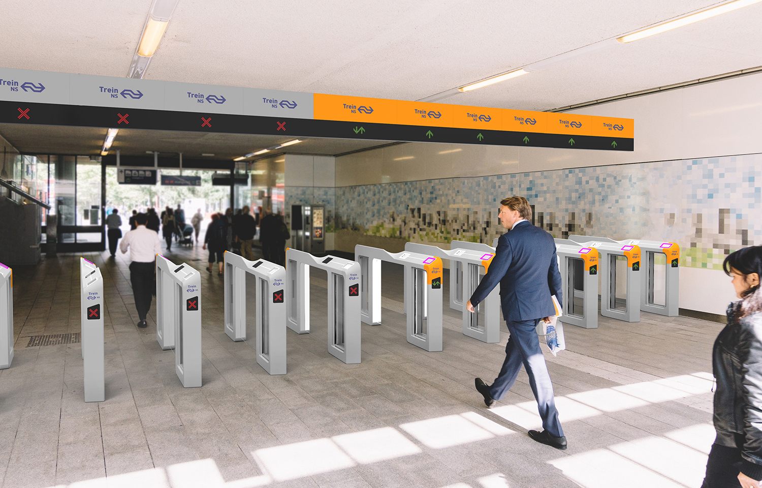 The proposed new user-centered design of the closed payment border for public transport