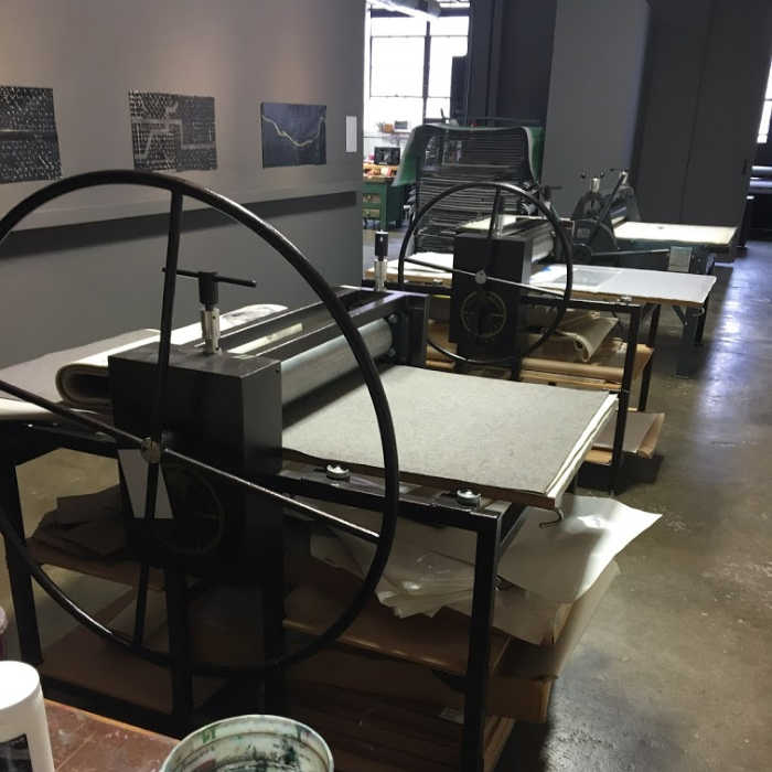 "Printing presses at ""Untitled"""