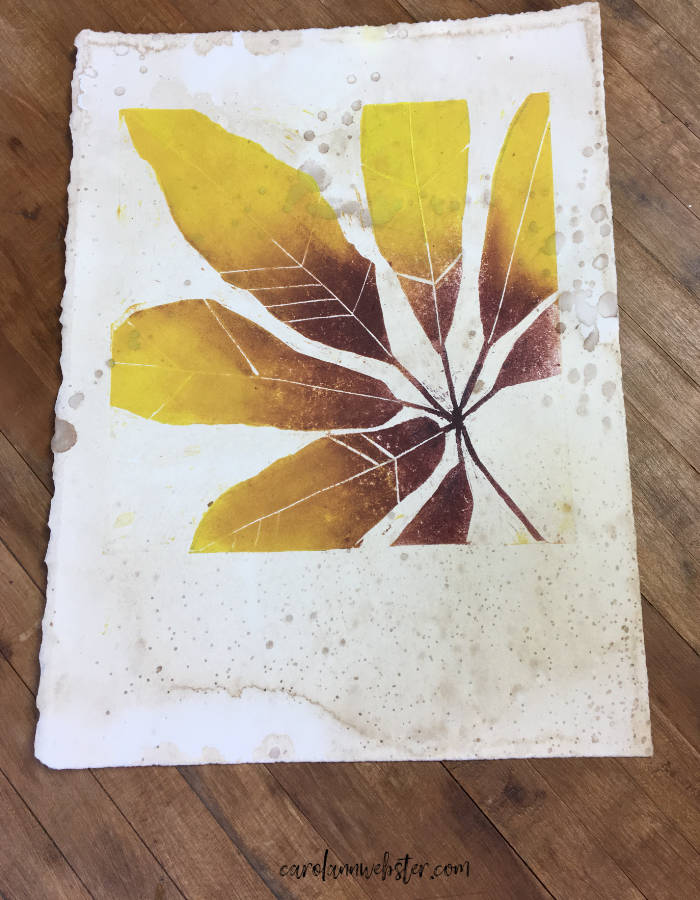 ©Carol Ann Webster  Monoprint on stained paper