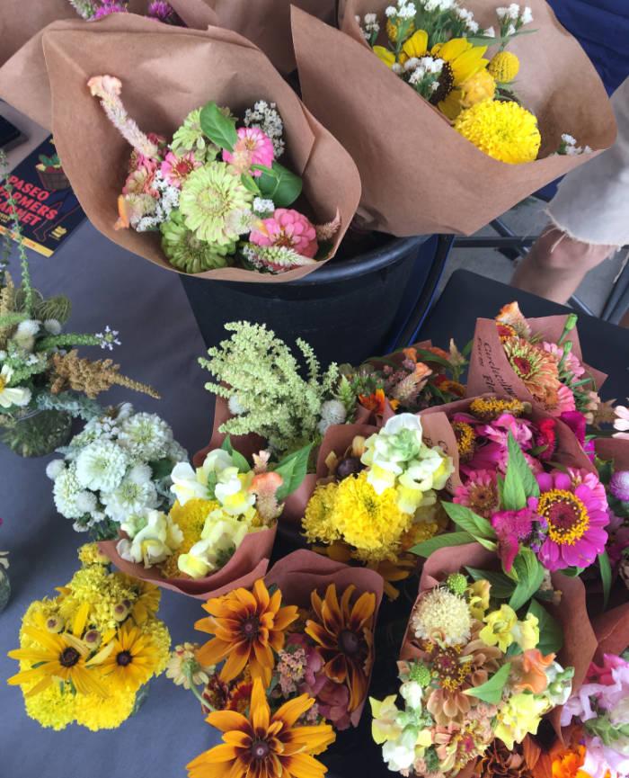Fresh flowers from Paseo Farmer's Market Oklahoma City Oklahoma