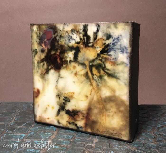 carol ann webster art - Finished flowers on canvas