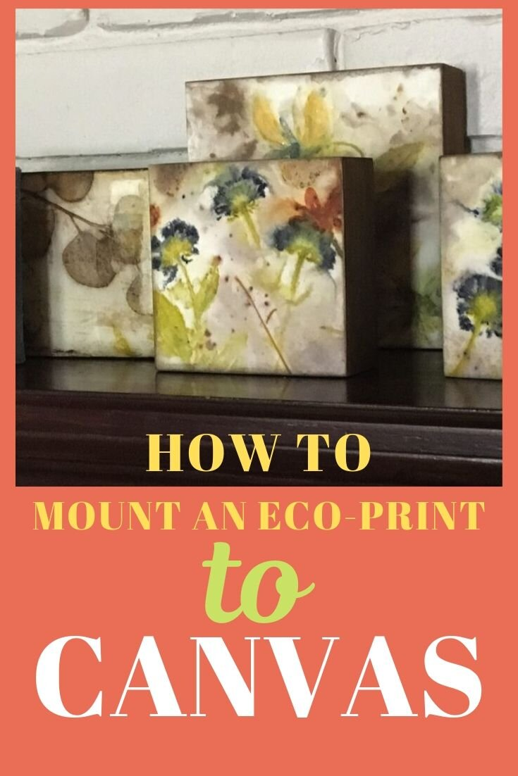 How to Mount Eco-Print to Canvas video