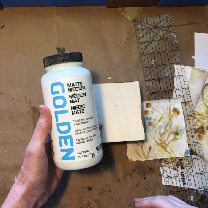 Golden Matte Medium used as adhesive artist Carol Ann Webster