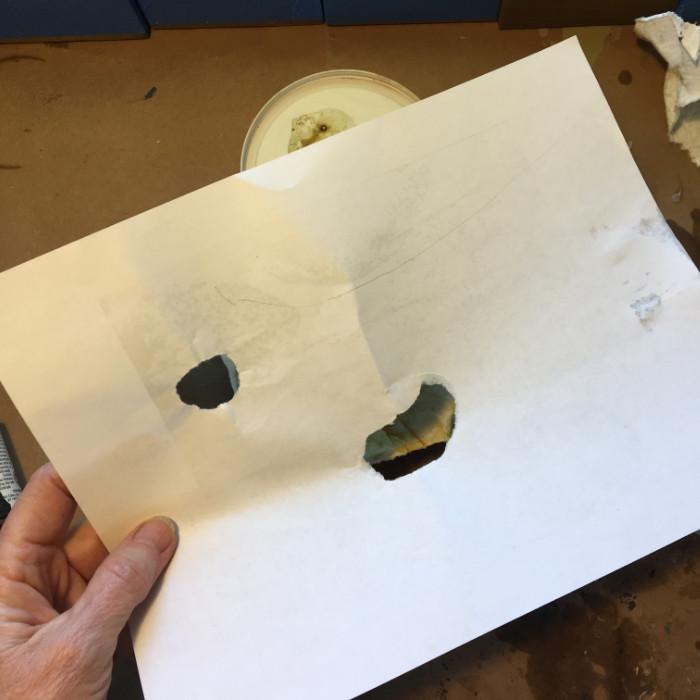 Torn paper mask