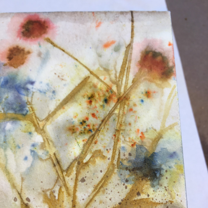 Watercolor crystals misted with water artist Carol Ann Webster