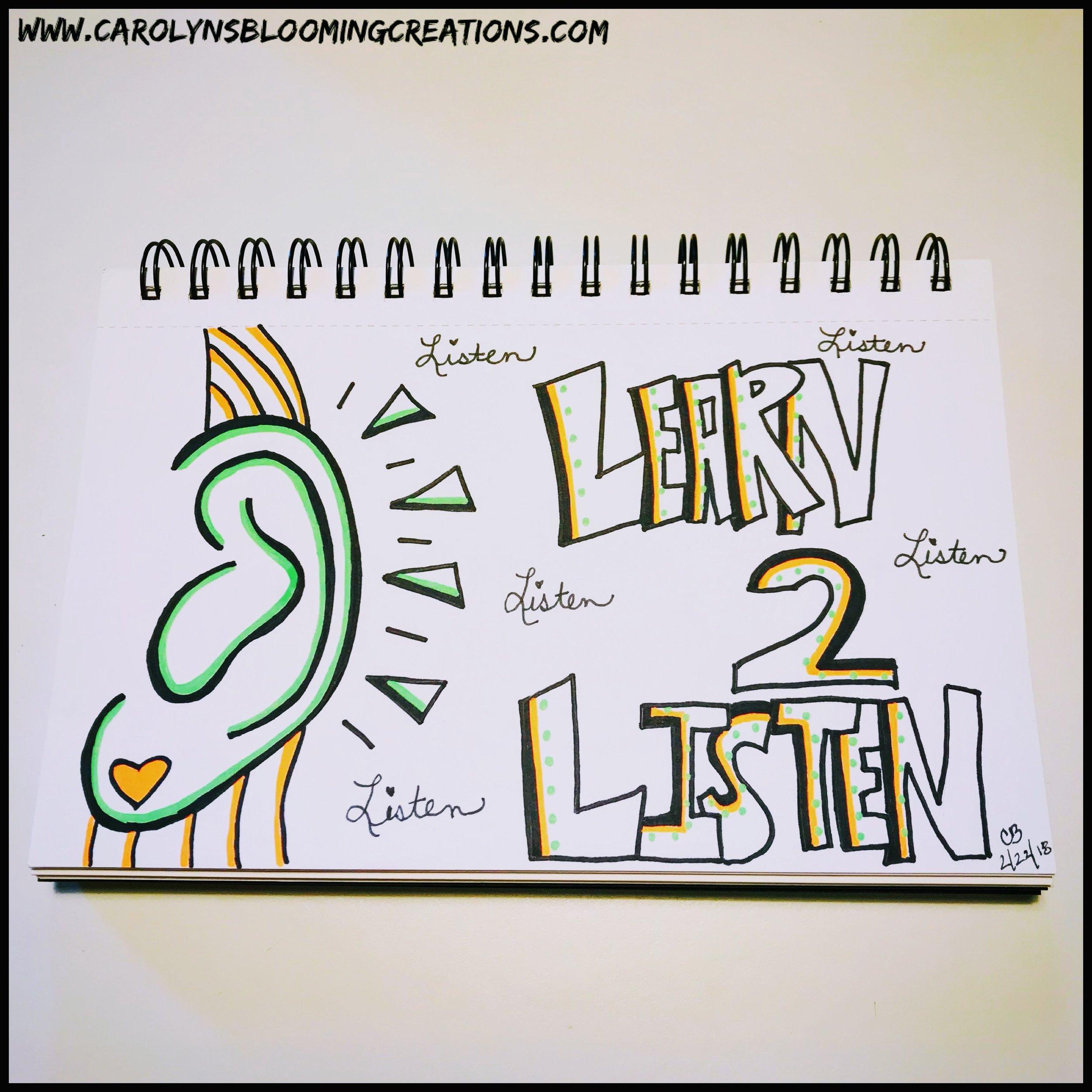 Sketch by Carolyn J. Braden-Learn 2 Listen