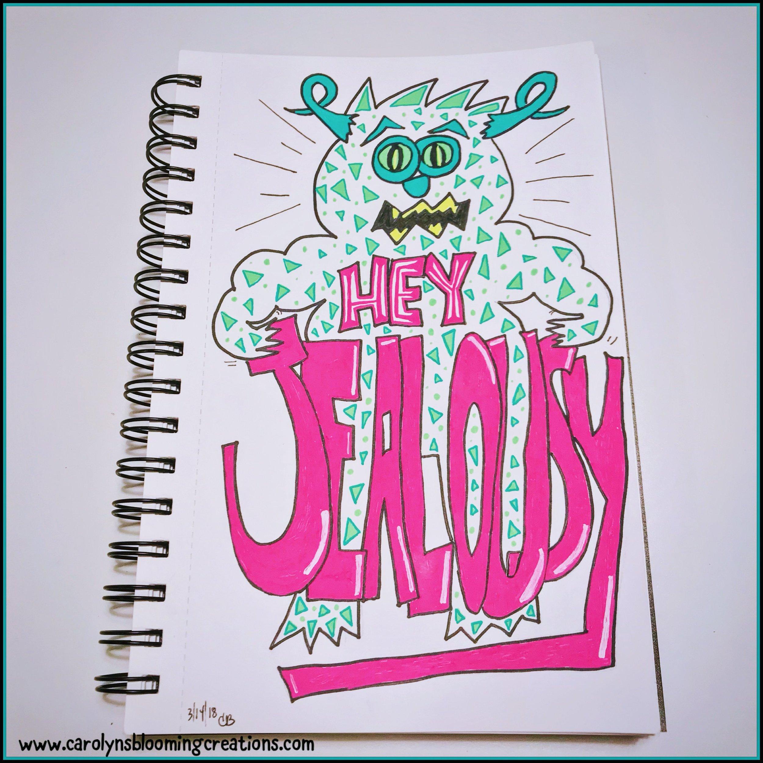 Art by Carolyn J. Braden: Hey Jealousy