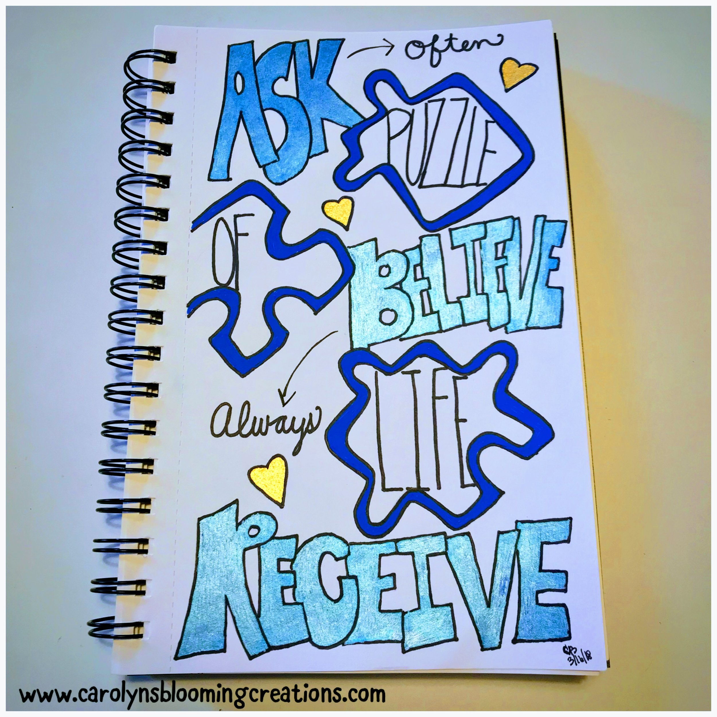 Art by Carolyn J. Braden: Ask, Believe, Receive