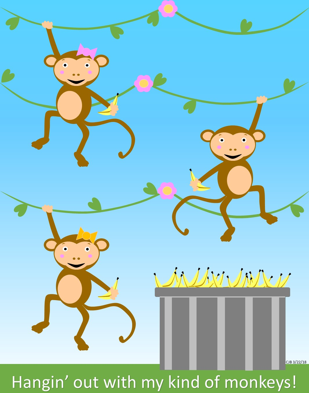 Art by Carolyn J. Braden: My Kind of Monkeys