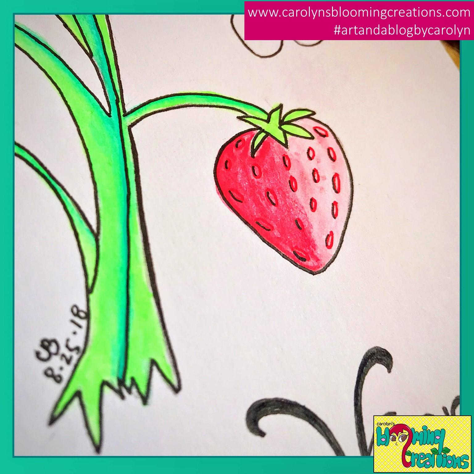 Pin Me! www.carolynsbloomingcreations.com  Art detail by Carolyn J. Braden, Media: Gelly Roll pens and BIC pencil.