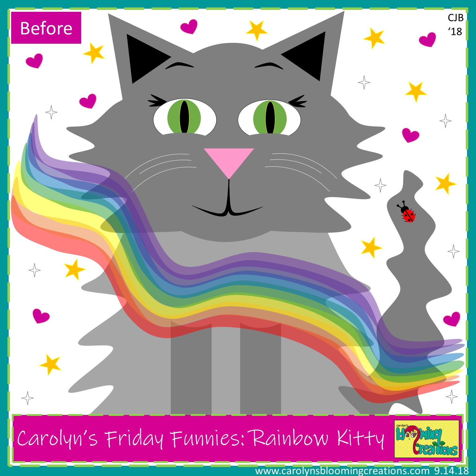 Carolyn Braden Rainbow Kitty Before.jpg