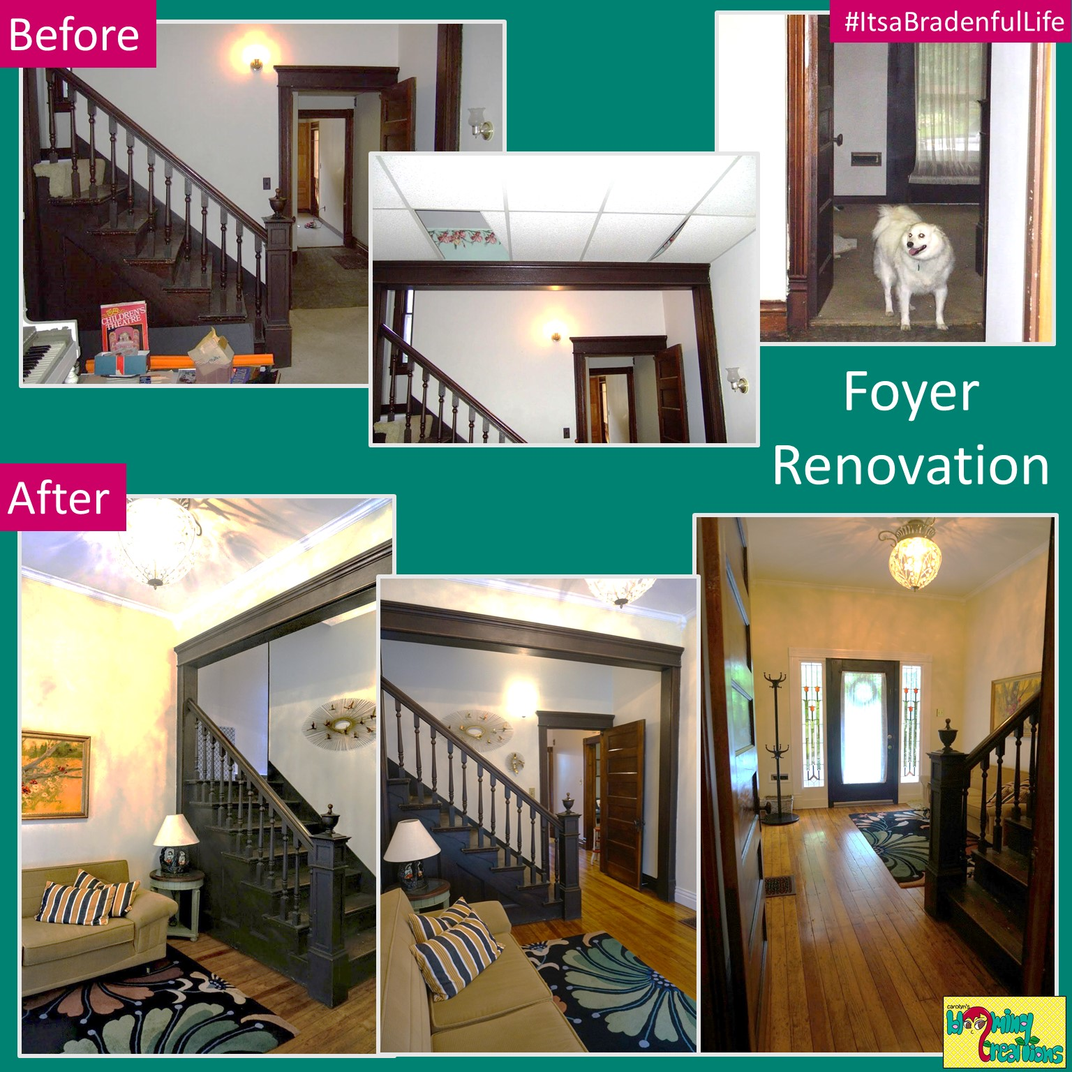 Foyer Before and After Carolyn Braden Itsabradenfullife.jpg