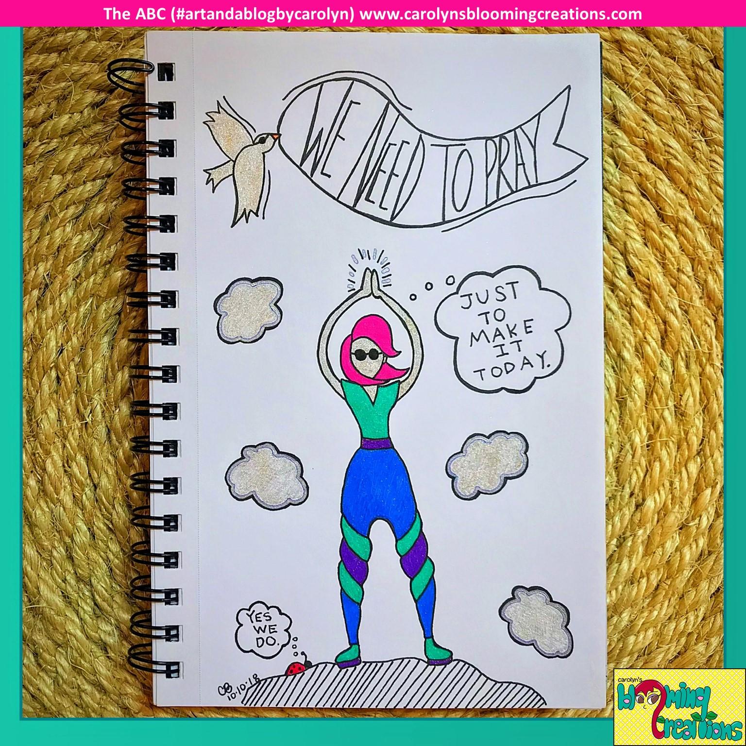 Art by Carolyn J. Braden, Media: Gelly Roll pens by Sakura and BIC pencil