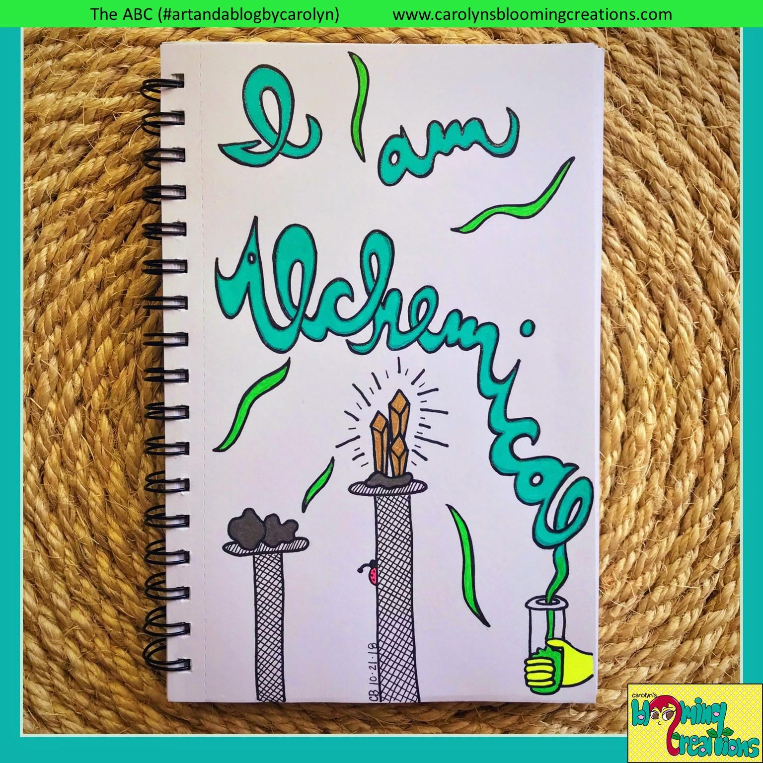 Art by Carolyn J. Braden, Media: Gelly Roll pens by Sakura, Sharpie Marker and BIC pencil on paper.