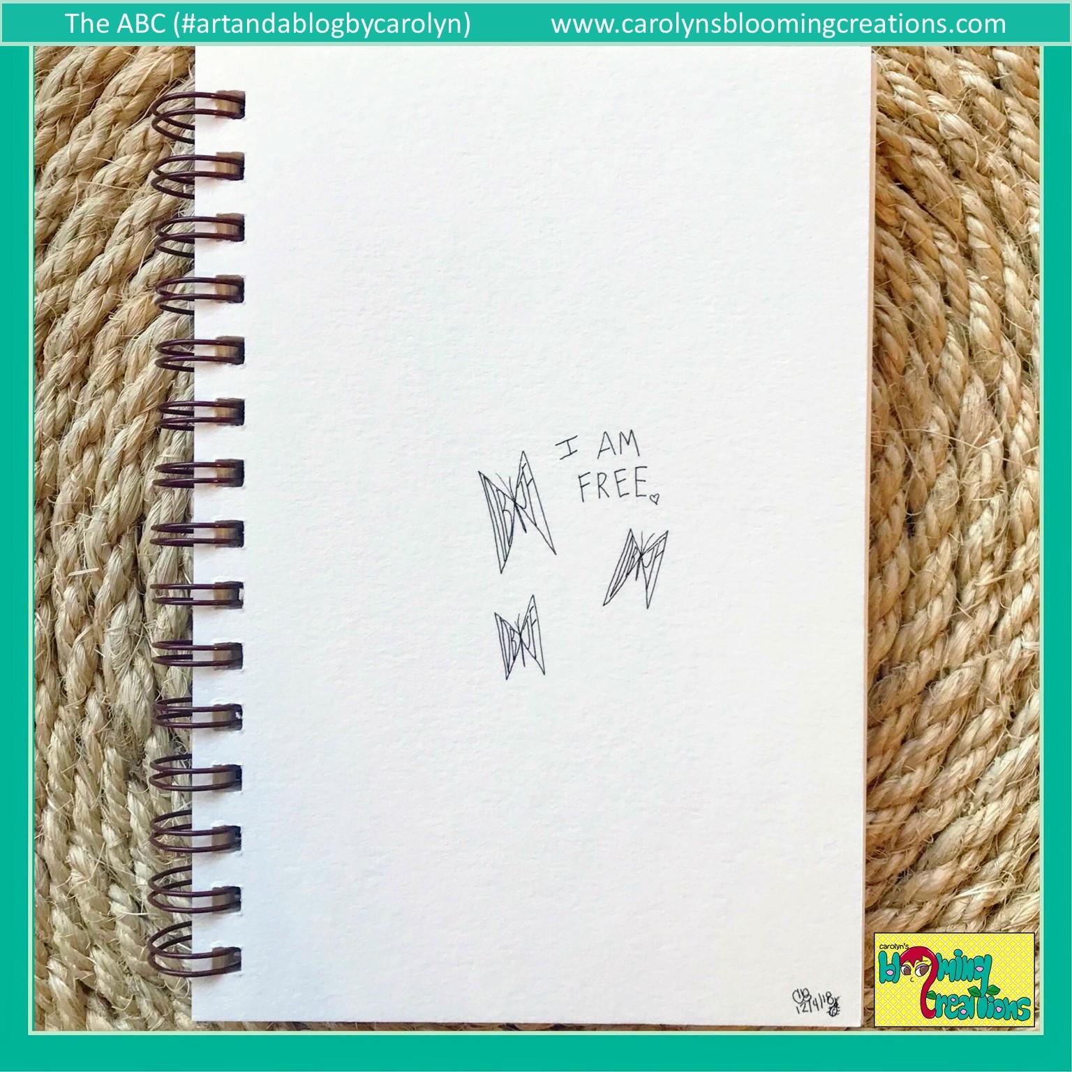 Art by Carolyn J. Braden, Media: Paper and Faber Castell PITT Artist Pens