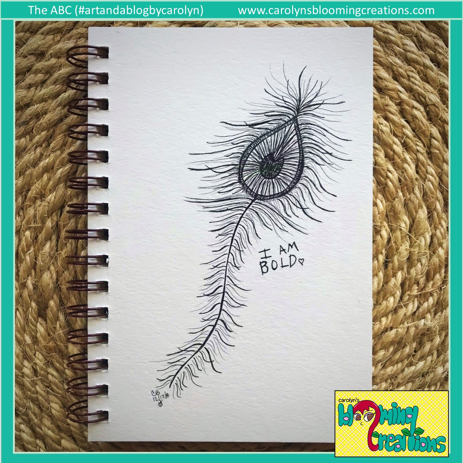 Art by Carolyn J. Braden, Media: Faber Castell PITT pens