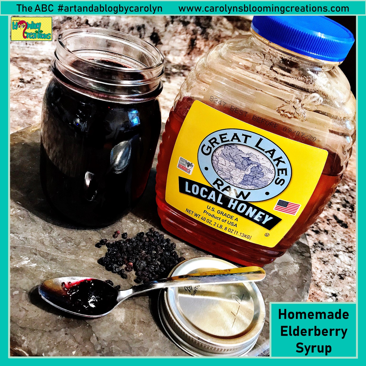 I made my own Elderberry Syrup using Wellness Mama's recipe!