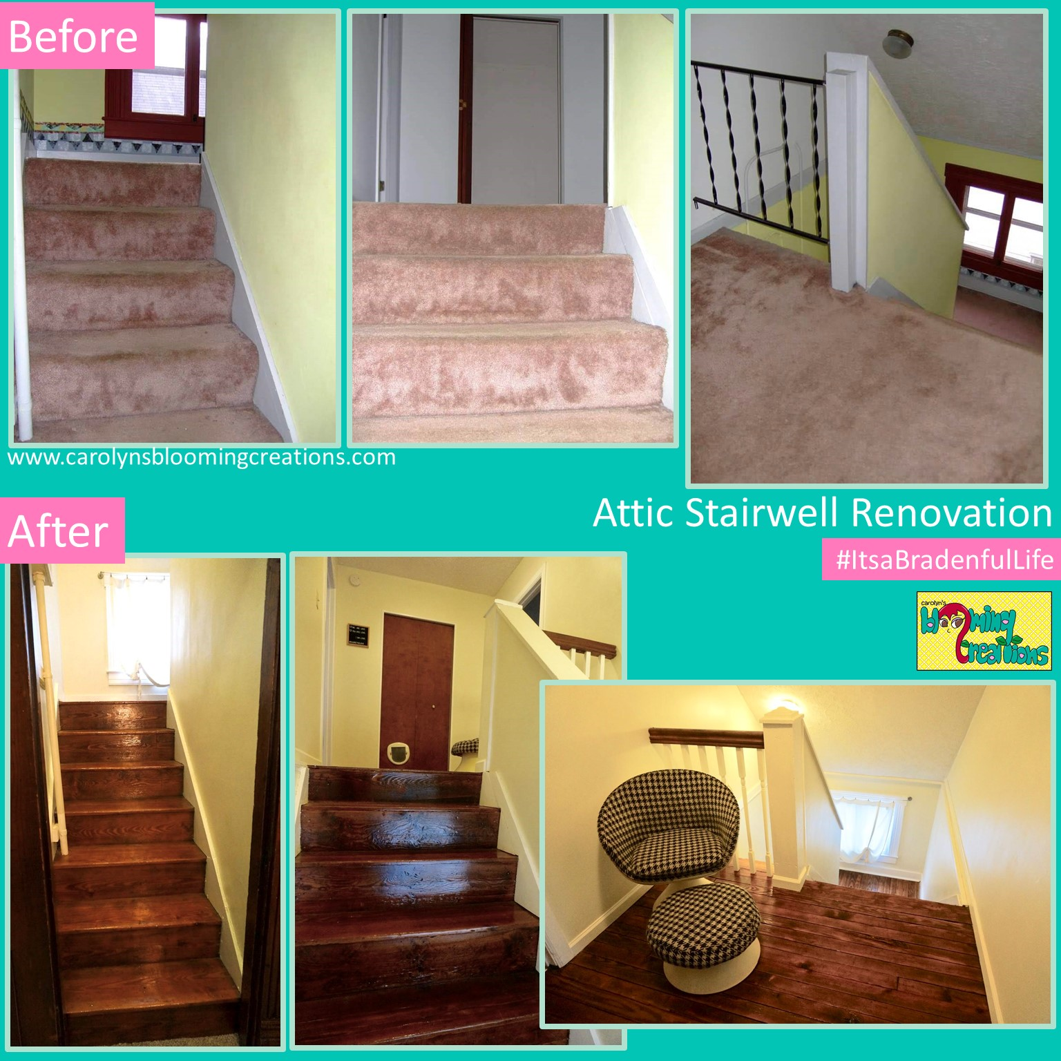 1800's Attic Stairwell Renovation by Tommy and Carolyn Braden