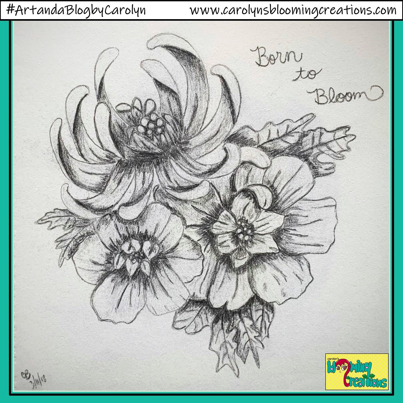 Art by Carolyn J. Braden, Media: BIC pencil on paper