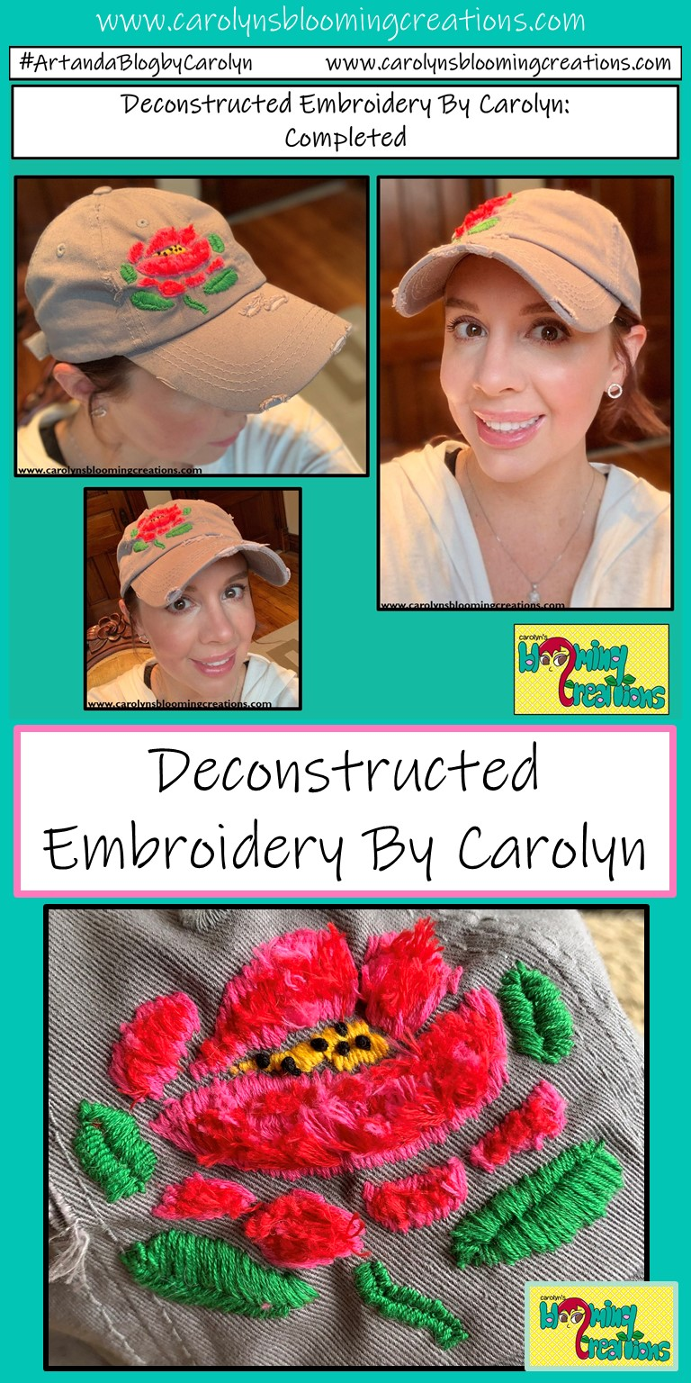 Art and photography by Carolyn J. Braden, Media: Embroidery floss on cotton,  Pin me! www.carolynsbloomingcreations.com