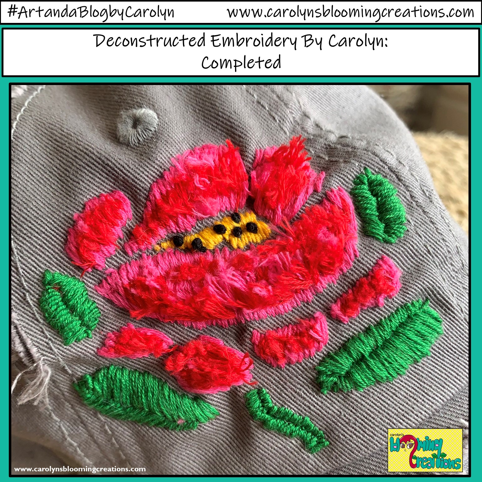 Deconstructed Embroidery by Carolyn