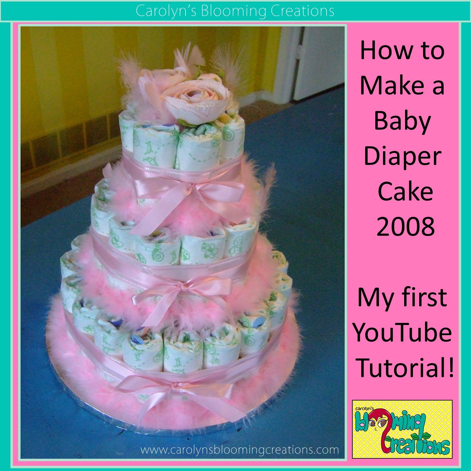 Carolyn J Braden Baby Diaper Cake 2008 1.jpg