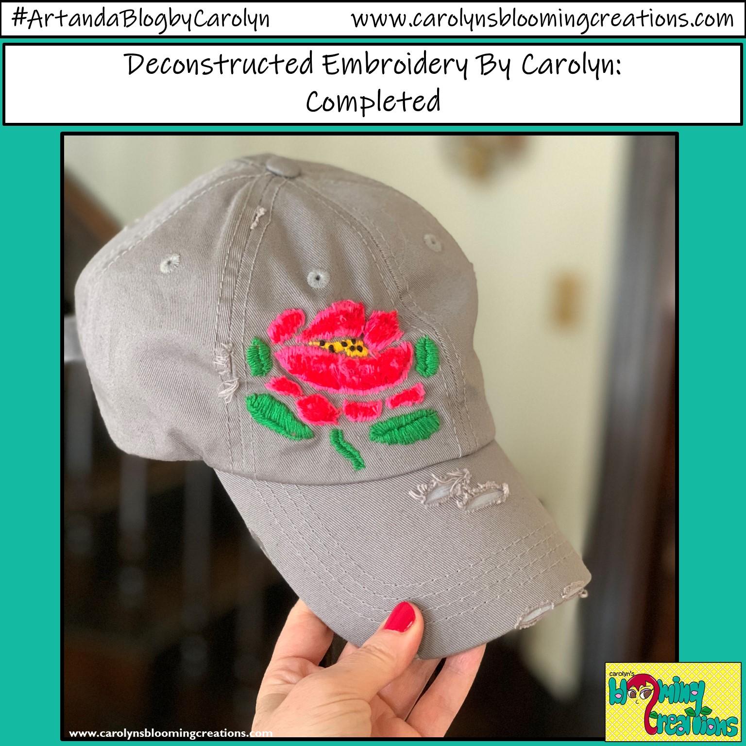 Carolyn Braden Embroidery Rose on Hat 1.jpg