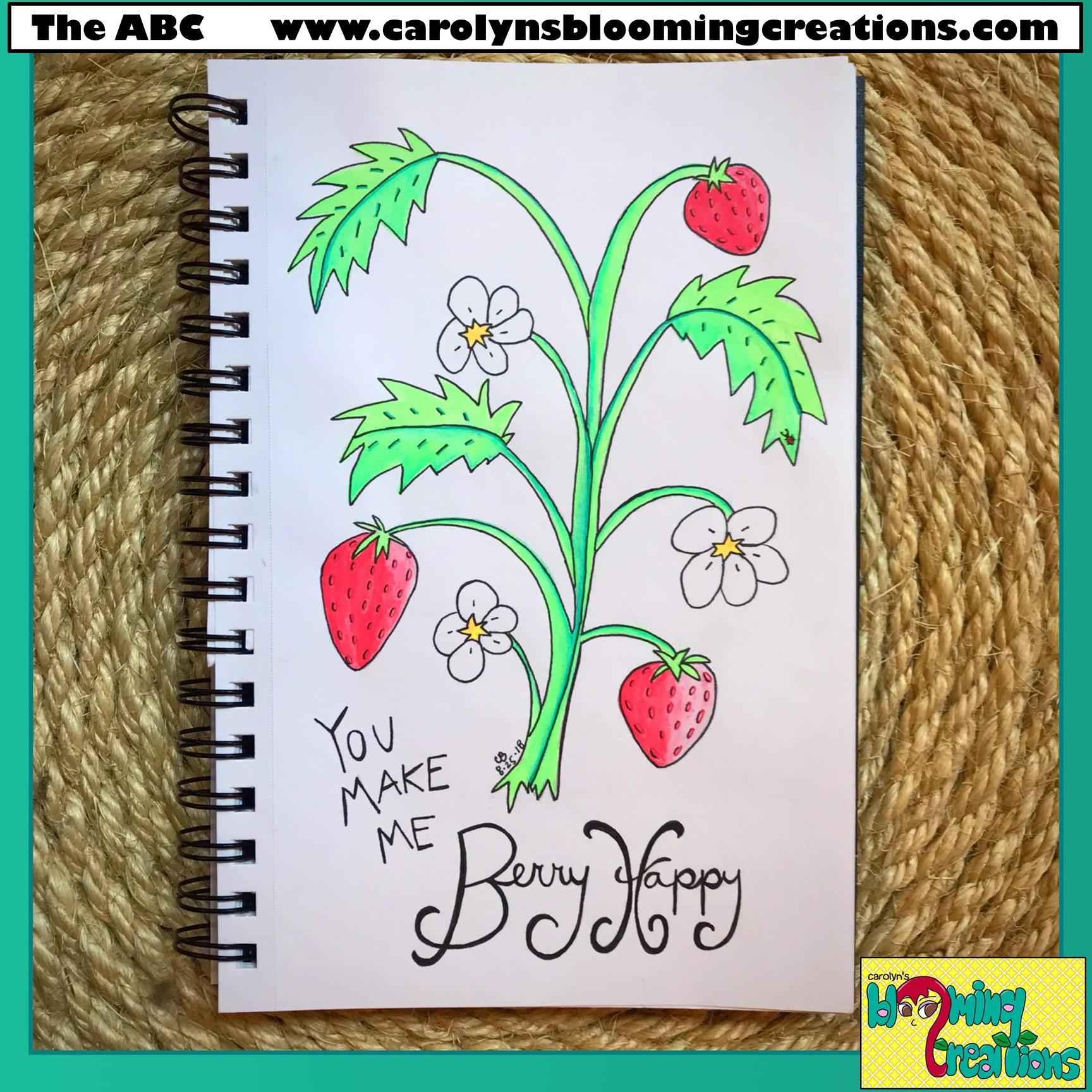 Pin Me! www.carolynsbloomingcreations.com  Art by Carolyn J. Braden, Media: Gelly Roll pens and BIC pencil.