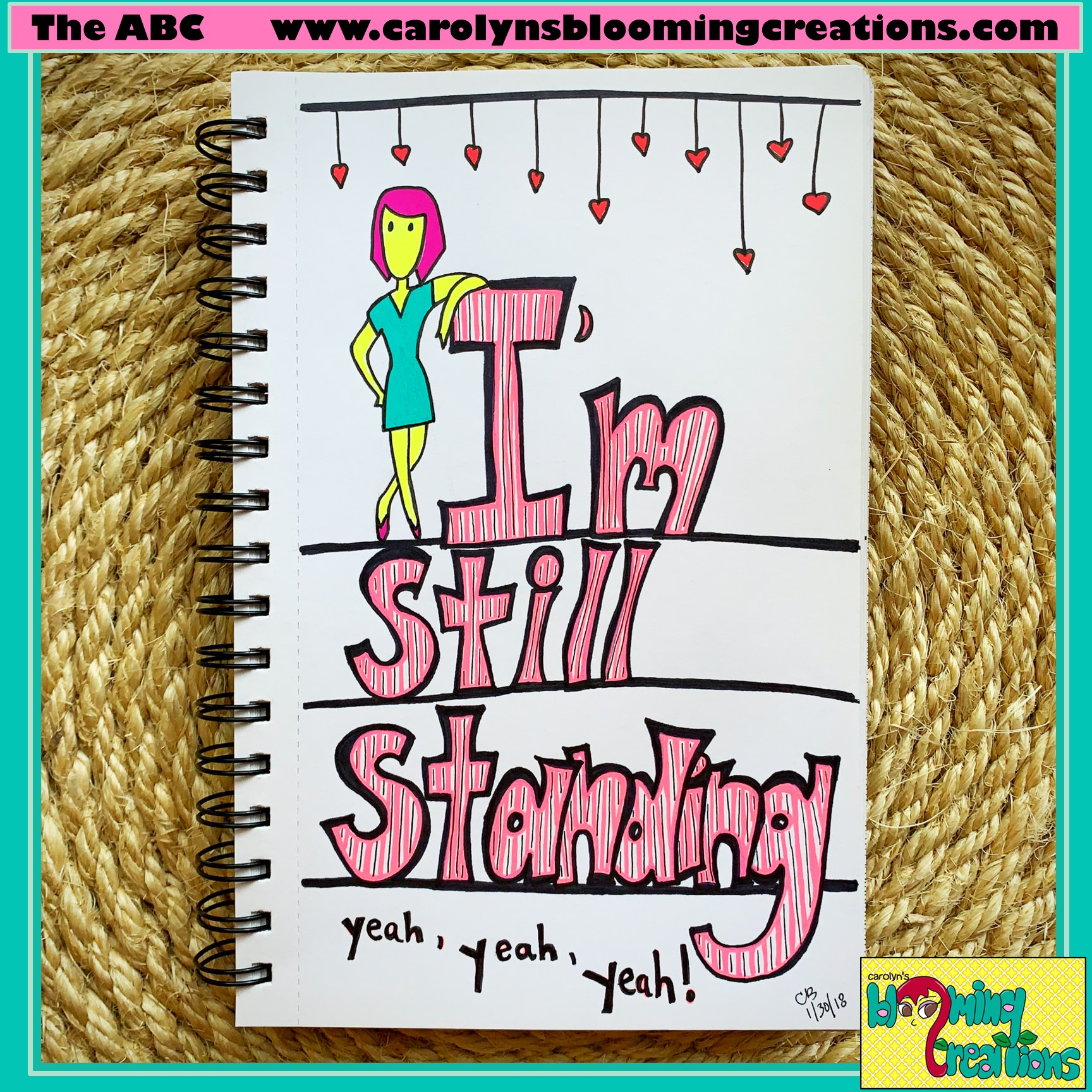 Pin me! www.carolynsbloomingcreations.com  Art created by Carolyn J. Braden, Media: Faber Castell PITT pens, Sakura Gelly Roll pens, BIC pencil on paper