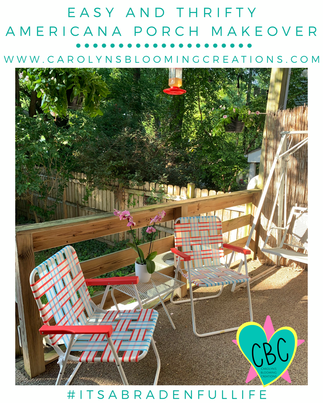 Pin me! www.carolynsbloomingcreations.com  Renovations designed and executed by Carolyn's husband, Thomas E. Braden Jr.