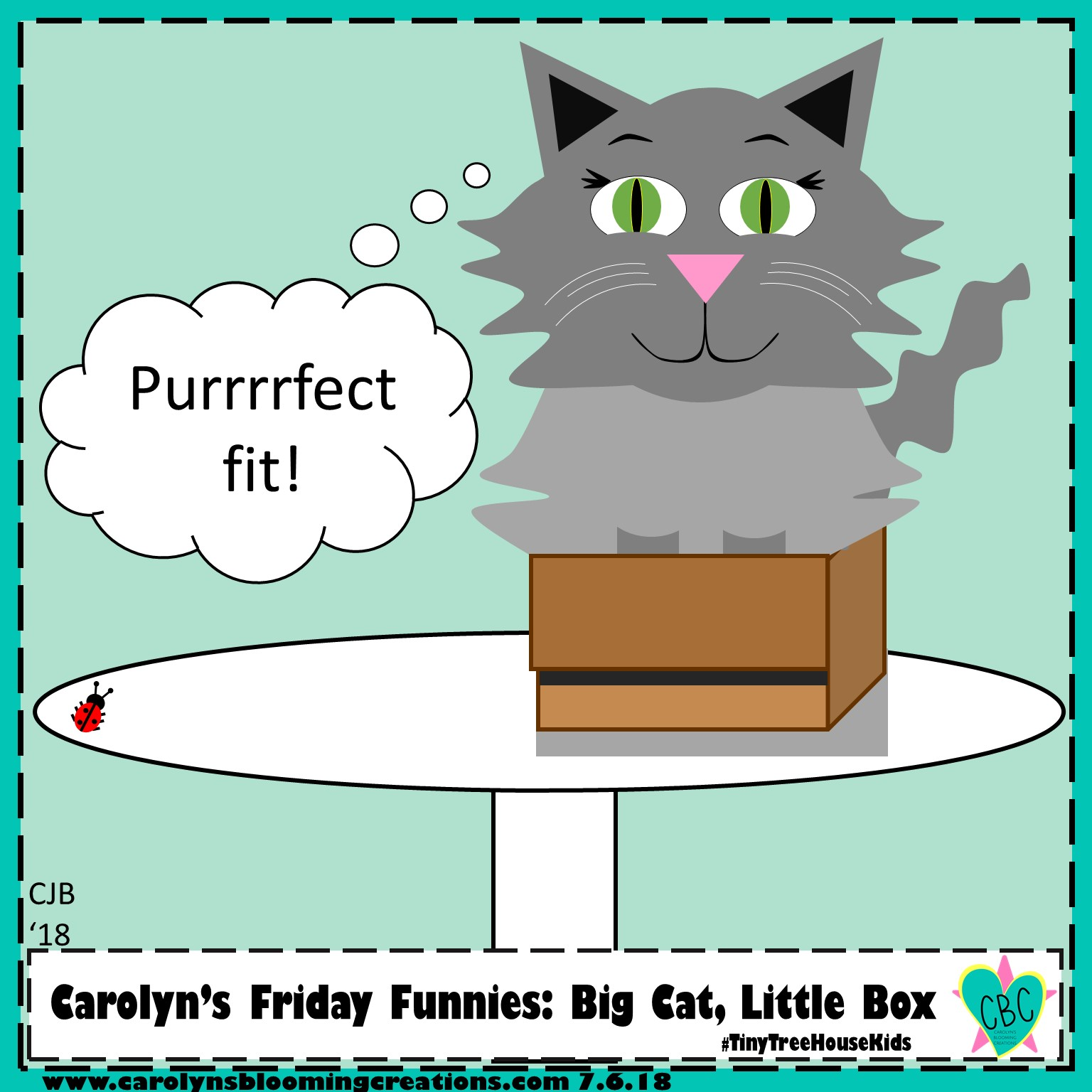 Second edition comic version by Carolyn J. Braden, July 2019, created with Microsoft PowerPoint  Pin me! www.carolynsbloomingcreations.com