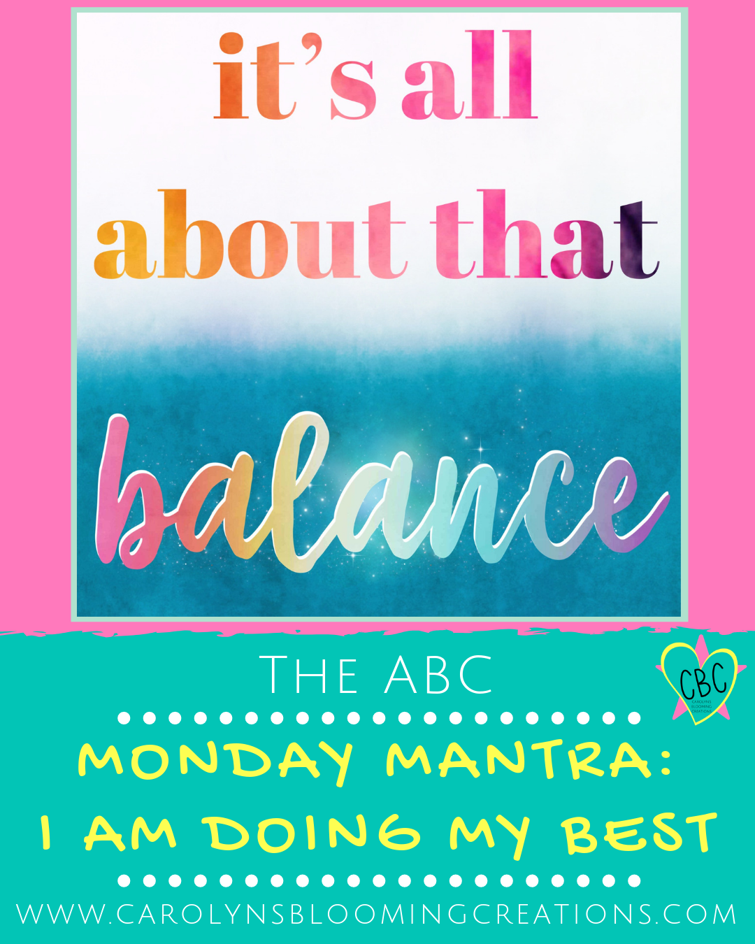 I Am Doing My Best: THE ABC  Pin me! www.carolynsbloomingcreations.com