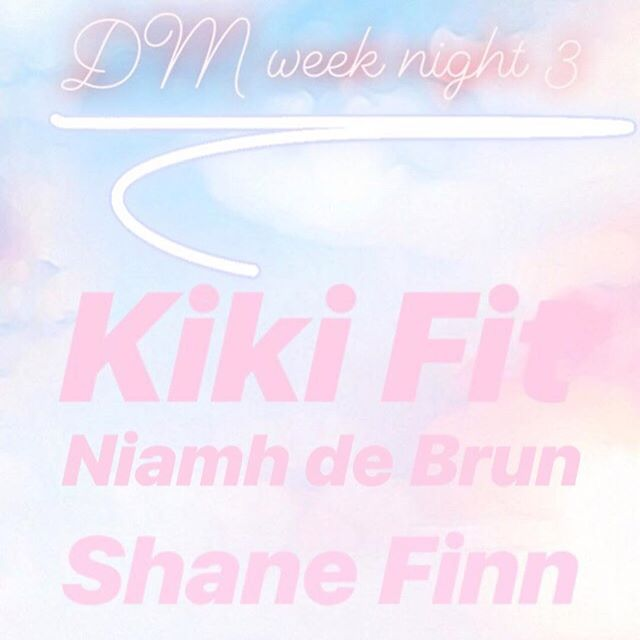 UCC CommSoc are delighted to welcome @_shanefinn @_kikifit_ @niamhdebrun to UCC this evening culminating an amazing DM week✨🌊🌈