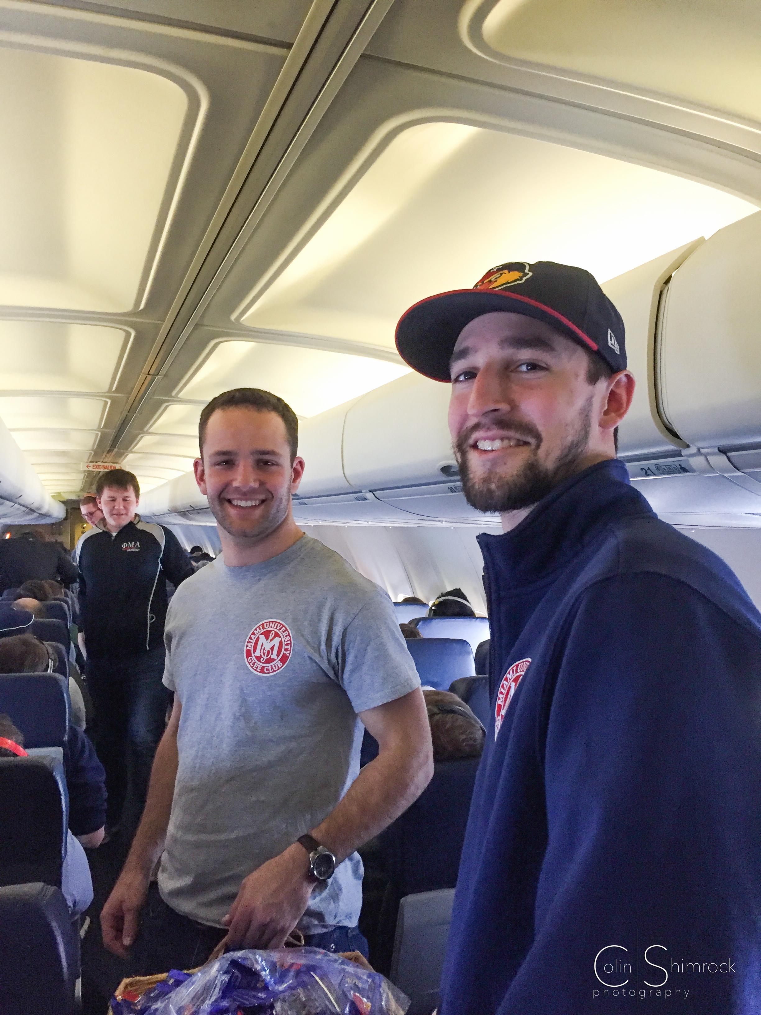Krumpak and Rumsey - Serving Peanuts on Southwest Flight.jpg
