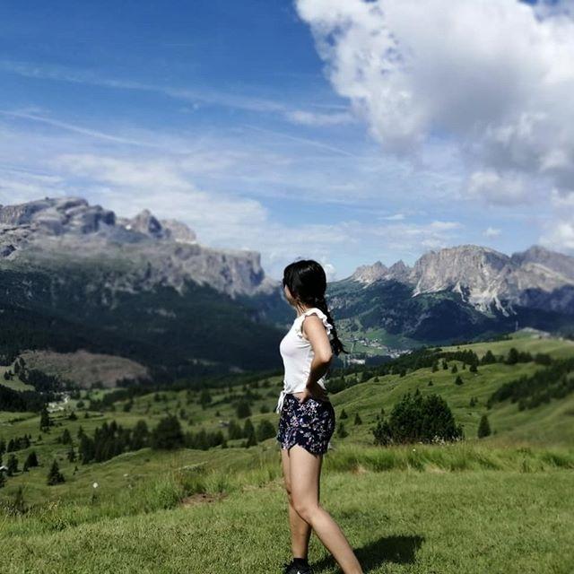 #italy #mountains #holidays  #trip #hiking #산 #이탈리아 #여름 #bluesky #alps #자연  #nature #happy #freespirit #돌로미티 #여행스타그램 #여행