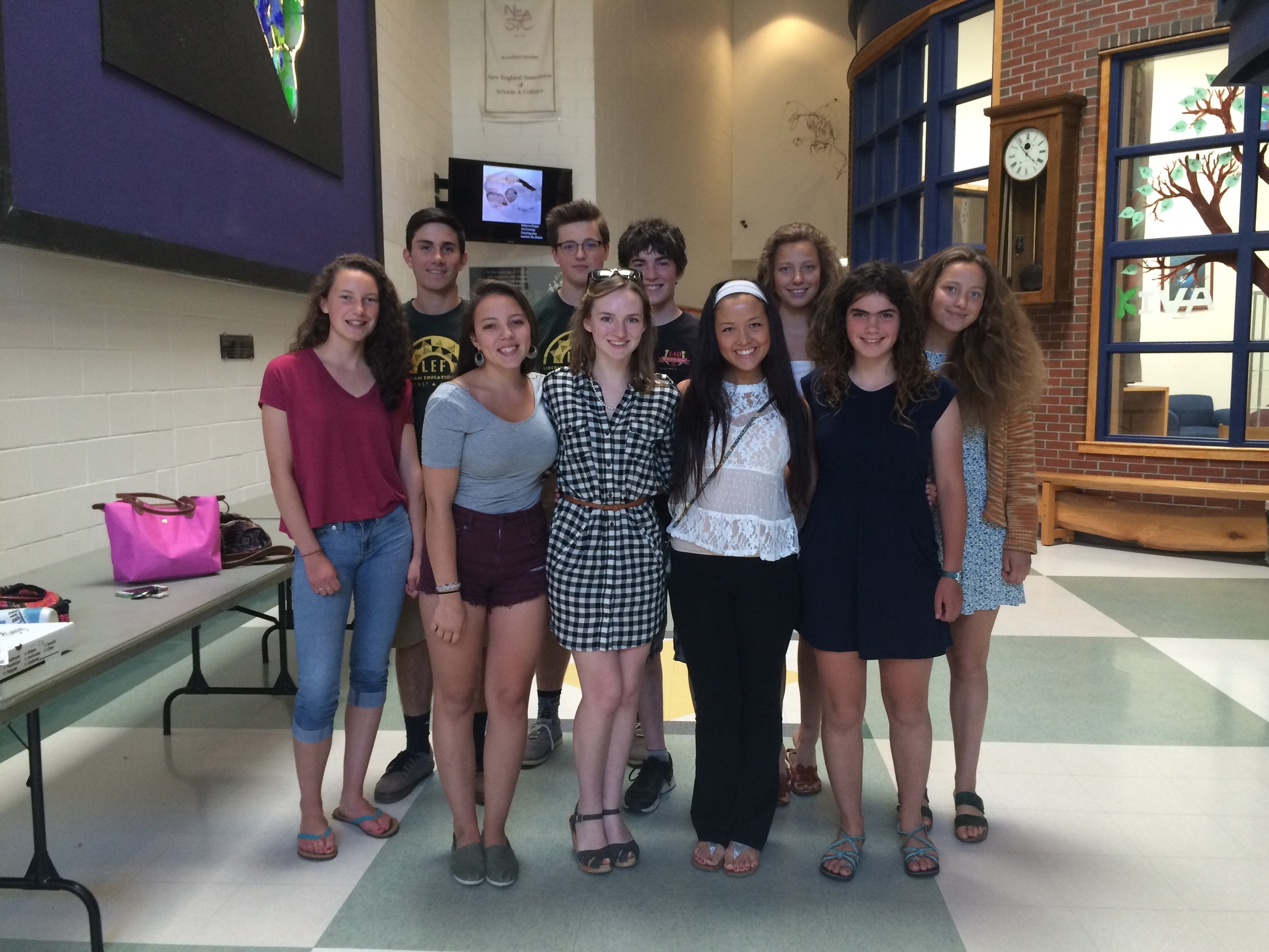 High School Chapter student leaders in Maine.